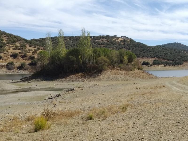 El pantano de Tentudía se sitúa en los peores niveles de agua de los últimos años