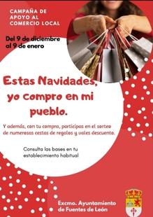 El Ayuntamiento de Fuentes de León pone en marcha una campaña de apoyo al comercio local