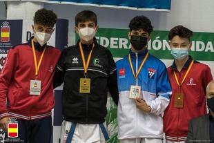 El club de kárate Oaki de Higuera la Real consigue 3 nuevas medallas en el Campeonato de España celebrado en Málaga