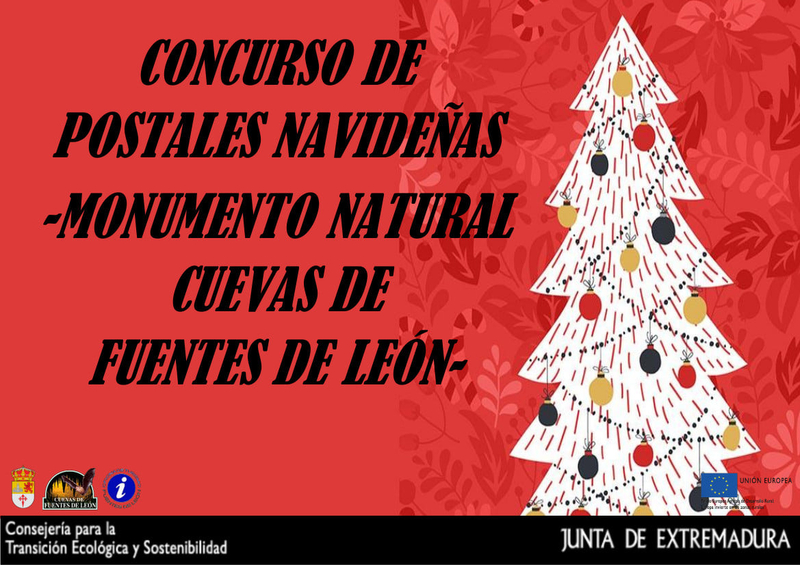 Concurso de postales navideñas `Monumento Natural Cuevas de Fuentes de León´