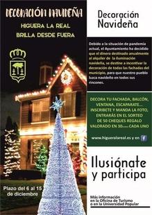 La iniciativa de Decoración Navideña en Higuera la Real repartirá 50 cheques regalo valorados en 30 euros entre sus vecinos