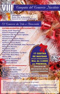 La VIII Campaña del Comercio Navideño en Bienvenida sorteará 17 suculentas cestas de Navidad
