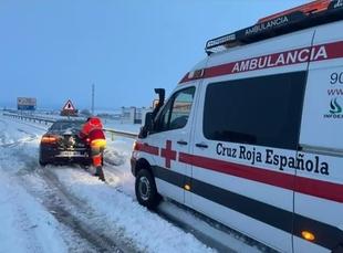 Corte de varias carreteras cerca de Monesterio y Fuente de Cantos por la nieve