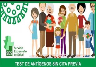 Habilitado en Fuente de Cantos un punto de atención sanitaria para realizar Test de Antígenos sin cita previa