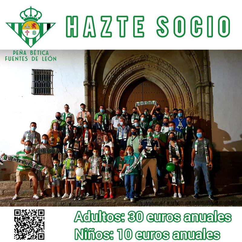 La Peña Bética de Fuentes de León abre el plazo de aceptación de nuevos socios para el año 2021