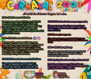 Segura de León celebra su Carnaval Virtual durante los últimos 10 días de febrero