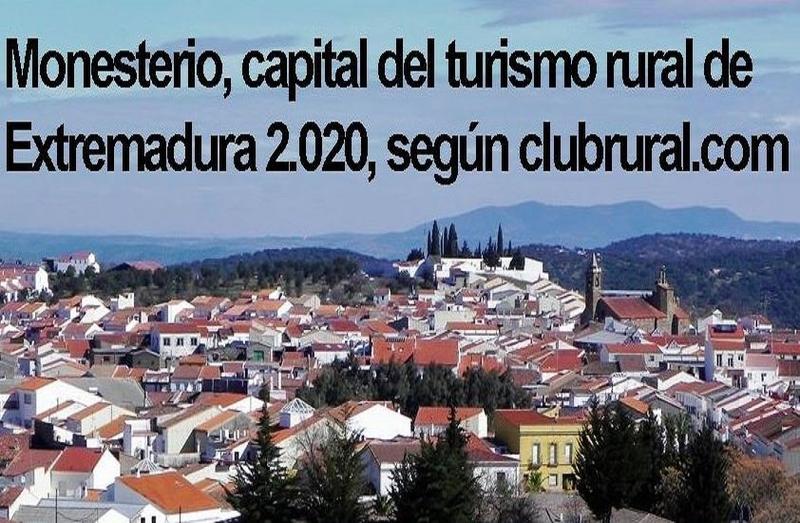 Monesterio, capital del turismo rural en Extremadura durante 2020, según Club Rural
