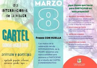 `FRASES CON HUELLA´ para el cartel conmemorativo del Día Internacional de la Mujer en Calera de León