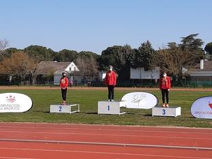 La atleta de Monesterio, Claudia Ríos, se proclama campeona de Extremadura de los 3000 metros marcha