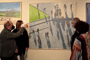 Abierta la muestra con las obras finalistas del XXVI Premio de Pintura `Francisco de Zurbarán´ en la Diputación