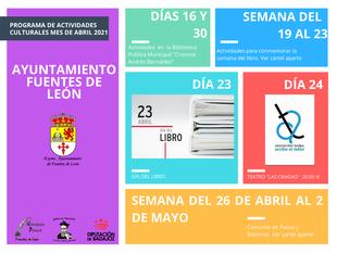 Fuentes de León presenta su programación cultural para el mes de abril