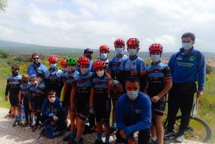 La Escuela Ciclista Tentudía compitió en Plasencia bajo la lluvia este fin de semana