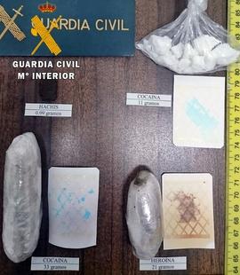 Tres detenidos por tráfico de drogas en las comarcas Campiña Sur y Tentudía