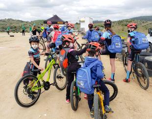 Los lobeznos disfrutaron de la bicicleta de montaña en Jerez de los Caballeros este fin de semana