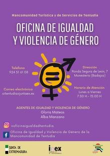 Retoma su funcionamiento con normalidad la Oficina de Igualdad y Violencia de Género de la Mancomunidad de Tentudía