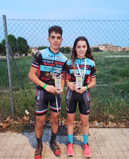 Dos ciclistas de la mancomunidad de Tentudía logran la segunda posición de la general en los Campeonatos de Extremadura BTT