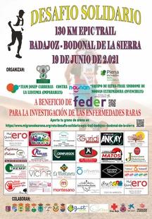 Desafío solidario Epic Trail Badajoz - Bodonal de la Sierra para conseguir fondos para la investigación en favor de las Enfermedades Raras