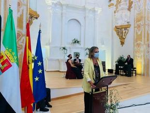 Yolanda García Seco ha presidido hoy el acto de inauguración de las obras de rehabilitación de la Iglesia de los Jesuitas en Fregenal