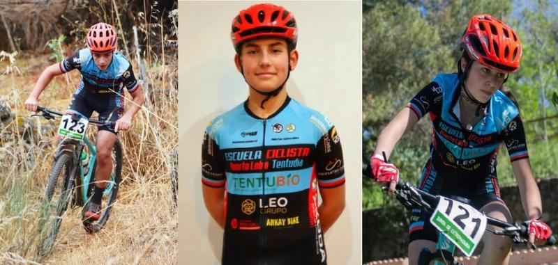 Tres alumnos de la Escuela Ciclista Tentudía seleccionados por la Federación Extremeña para los Campeonatos de España