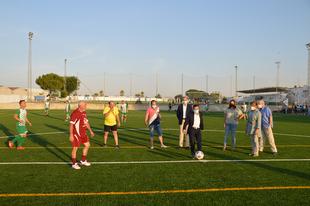 Fuente de Cantos estrena su nuevo campo de fútbol de césped artificial Juan Iglesias `Juanito´