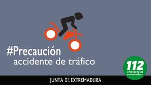Fallece un motociclista de 37 años y otro resulta herido en un accidente cerca de Monesterio