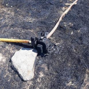La Guardia Civil investiga la causa que provocaba el incendio en Bodonal el 9 de julio