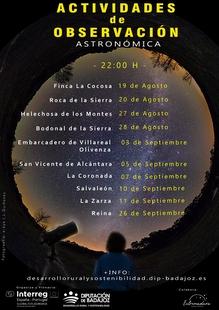 La Diputación de Badajoz organiza una actividad de observación astronómica en Bodonal de la Sierra