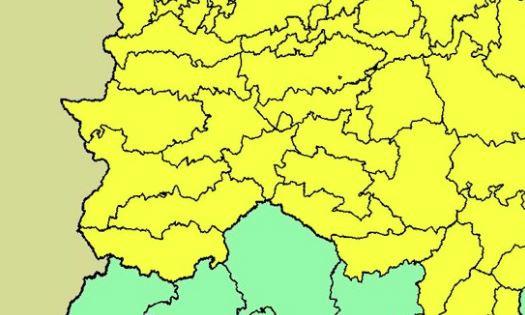 Extremadura permanecerá mañana en alerta amarilla por lluvias y tormentas