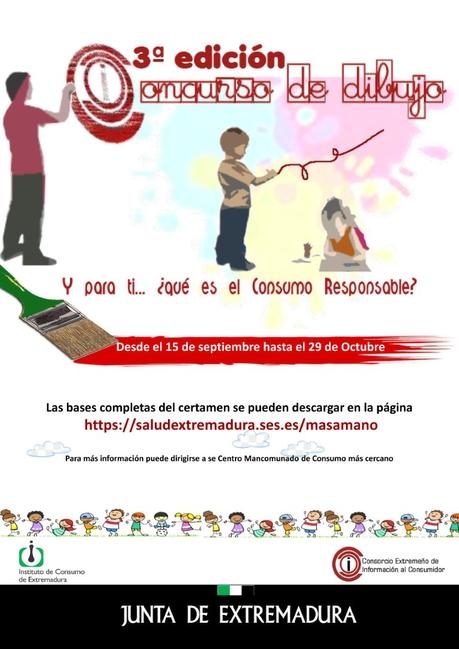 Convocada la tercera edición del concurso de pintura infantil y juvenil bajo el lema `Y para ti… ¿qué es el Consumo Responsable?´