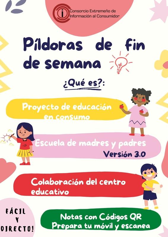 Puesta en marcha la iniciativa `Píldoras de Fin de Semana´ a modo de escuela de madres y padres en versión 3.0