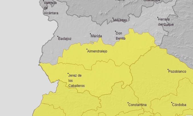 Aviso amarillo en la comarca por tormentas a partir de este mediodía