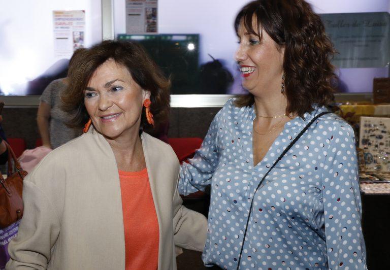 La fuentecanteña Luisa M. de la Puente, premio Fademur 2021, junto a Rozalen y Carmen Calvo