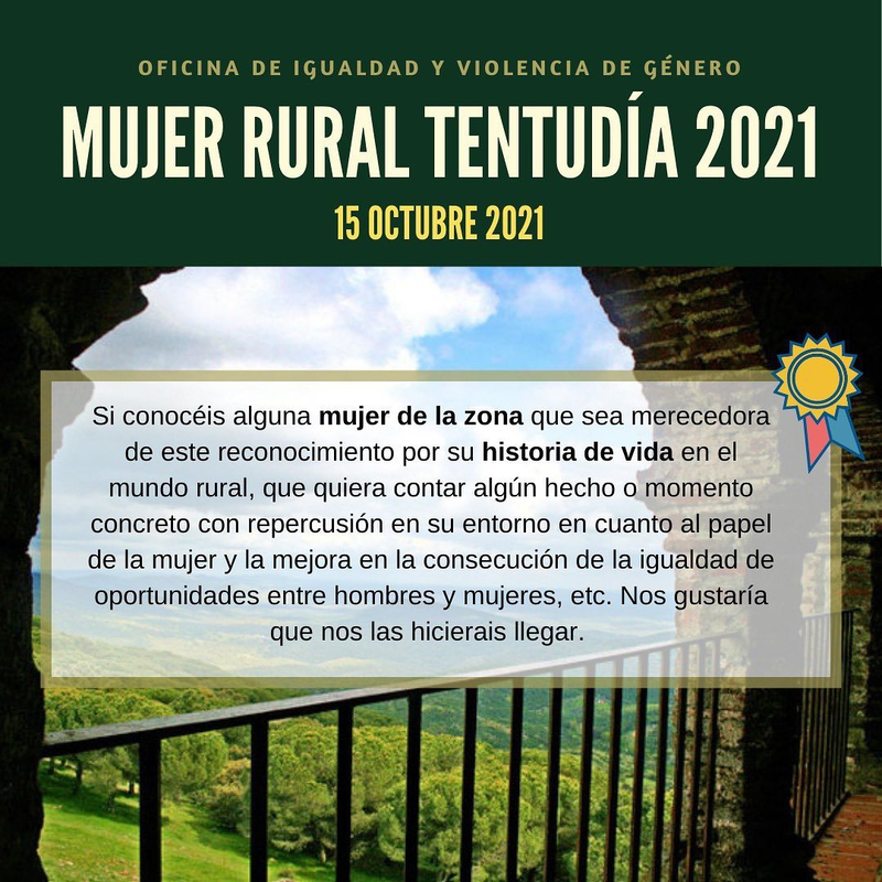 La Mancomunidad abre el plazo de propuestas para los reconocimientos como Mujer Rural Tentudía 2021