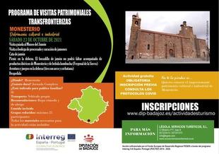 Monesterio acoge este próximo sábado la tercera de las visitas del II programa de Visitas Patrimoniales Transfronterizas