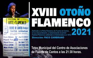 Este viernes comienza el XVIII Otoño Flamenco de Fuente de Cantos
